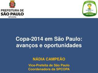 Copa-2014 em São Paulo: avanços e oportunidades