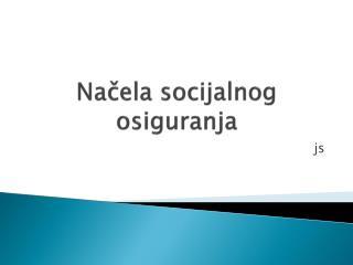 Načela socijalnog osiguranja