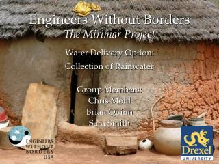 Engineers Without Borders The Mirimar Project