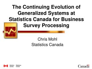 Chris Mohl Statistics Canada
