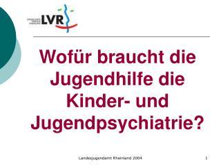 Wofür braucht die Jugendhilfe die Kinder- und Jugendpsychiatrie?