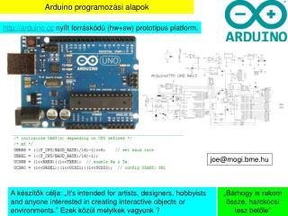 Arduino programoz ási alapok