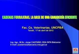 CADENAS FORRAJERAS, LA BASE DE UNA GANADER�A EFICIENTE