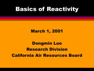 Basics of Reactivity