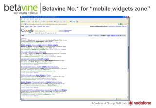 "Betavine No.1 for ""mobile widgets zone"""