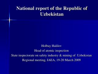 National report of the Republic of Uzbekistan
