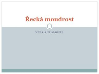 ?eck� moudrost