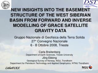 Gruppo Nazionale di Geofisica della Terra Solida 27° Convegno Nazionale