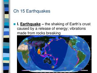 Ch 15 Earthquakes