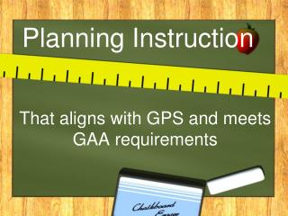 Planning Instruction