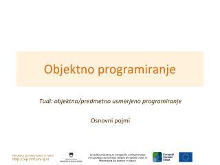 Objektno programiranje