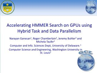 Accelerating HMMER Search on GPUs using Hybrid Task and Data Parallelism
