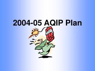 2004-05 AQIP Plan