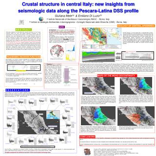 Crustal structure in central Italy: new insights from