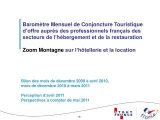 Baromètre Mensuel de Conjoncture Touristique