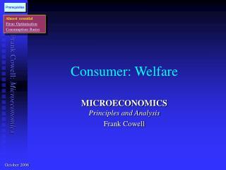 Consumer: Welfare