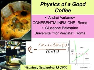 Physics of a Good Coffee