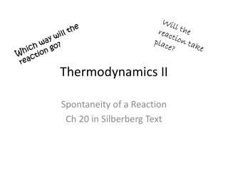 Thermodynamics II