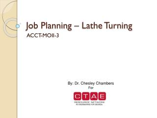 Job Planning – Lathe Turning