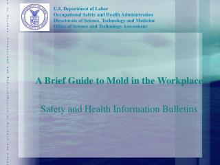 A Brief Guide to Mold in the Workplace Safety and Health Information Bulletins