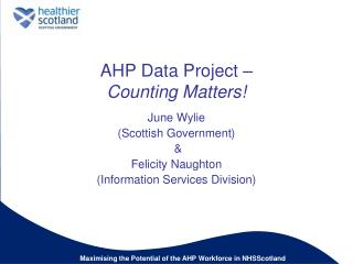 AHP Data Project   Counting Matters