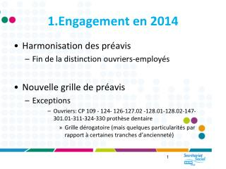 1.Engagement en 2014