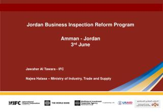 Jordan Business Inspection Reform Program Amman - Jordan 3 rd  June