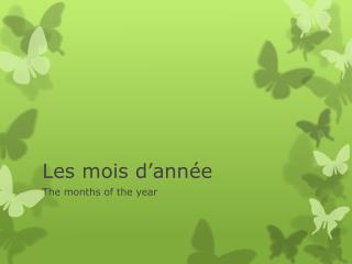 Les  mois d'année