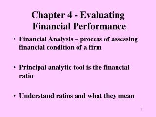 Chapter 4 - Evaluating  Financial Performance