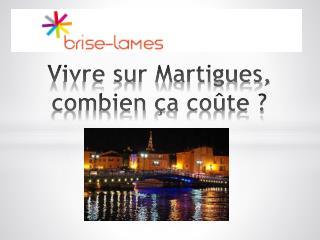 Vivre sur Martigues, combien  ç a coûte ?