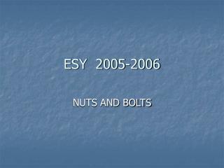 ESY  2005-2006