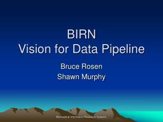 BIRN Vision for Data Pipeline