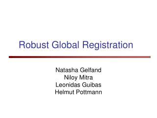 Robust Global Registration