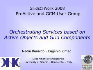 Nadia Ranaldo - Eugenio Zimeo