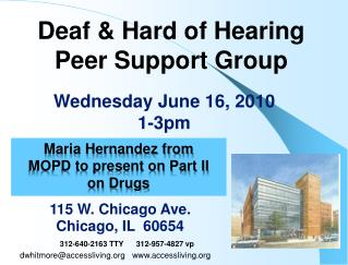 Deaf & Hard of Hearing Peer Support Group