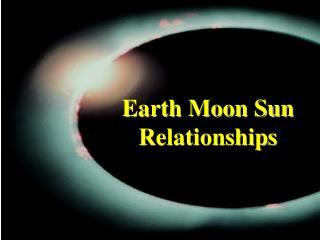 Earth Moon Sun Relationships