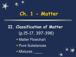 Ch. 1 - Matter