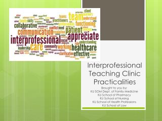 Interprofessional Teaching Clinic Practicalities