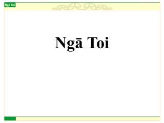 Ngā Toi
