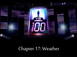 Chapter 17: Weather