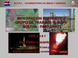 M.O.P.C. - VICEMINISTERIO DE MINAS Y ENERGIA