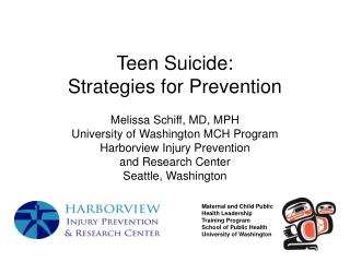 Teen Suicide:  Strategies for Prevention