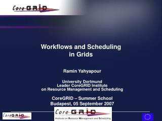 Workflows and Scheduling in Grids