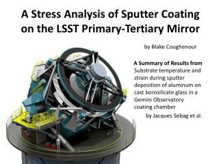 A Stress Analysis of Sputter Coating on the LSST Primary-Tertiary Mirror