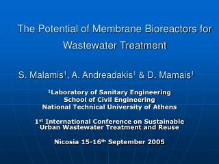 The Potential of Membrane Bioreactors for Wastewater Treatment