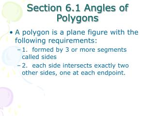 Section 6.1 Angles of Polygons