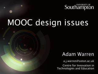 MOOC design issues