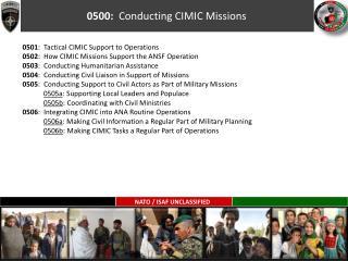 0500:   Conducting CIMIC Missions