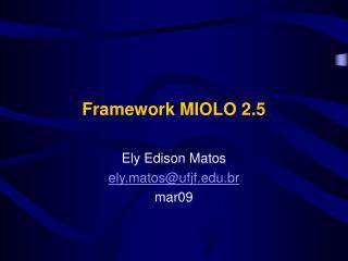 Framework MIOLO 2.5