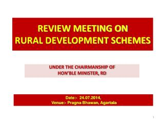 REVIEW MEETING ON  RURAL DEVELOPMENT SCHEMES